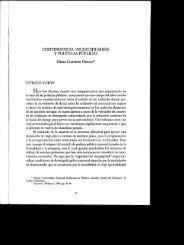 Contingencia, Incertidumbre y Políticas Públicas