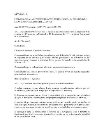 Ley 20.411 - Derecho Internacional Publico