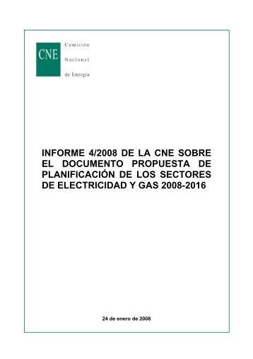 informe 4/2008 de la cne sobre el documento propuesta de ...