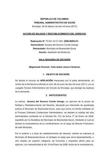 ACCIÓN DE NULIDAD Y RE - Rama Judicial