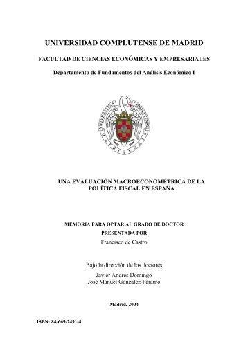 Una evaluación macroeconométrica de la política fiscal en España