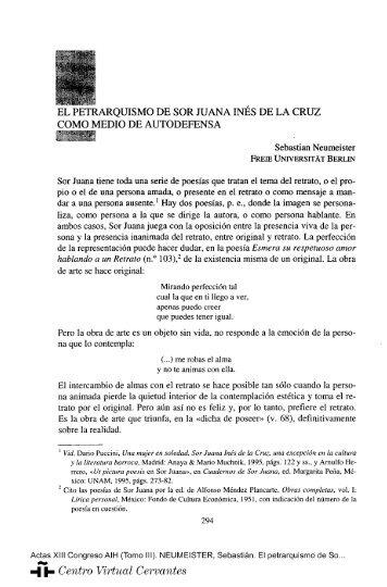 El petrarquismo de Sor Juana Inés de la Cruz como medio de ...