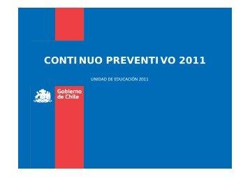 CONTINUO PREVENTIVO 2011 - Senda