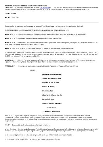 Regimen Juridico Basico - Hospital Posadas