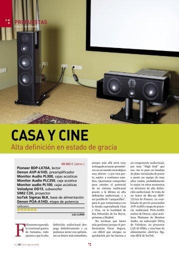 Articulo Cine En Casa - Casa y Cine
