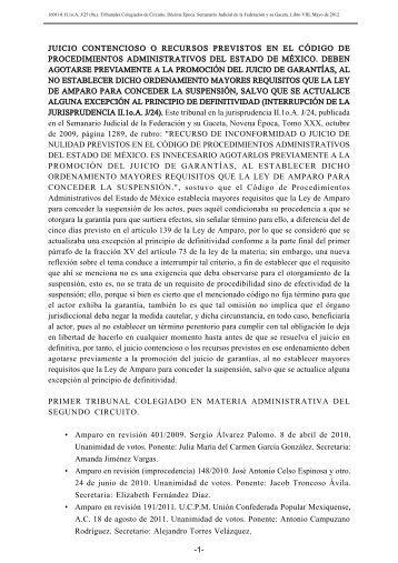 juicio contencioso o recursos previstos en el código de ...