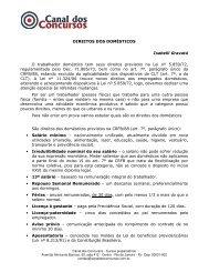 direitos dos domésticos - Canal dos Concursos