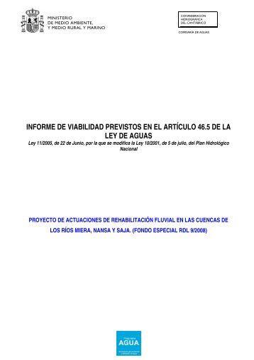 INFORME DE VIABILIDAD PREVISTOS EN EL ARTÍCULO 46.5 DE ...