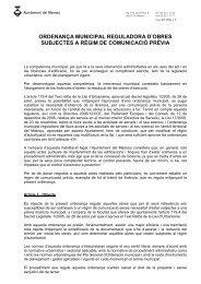 Ordenança d'obres subjectes a comunicació prèvia - Ajuntament del ...
