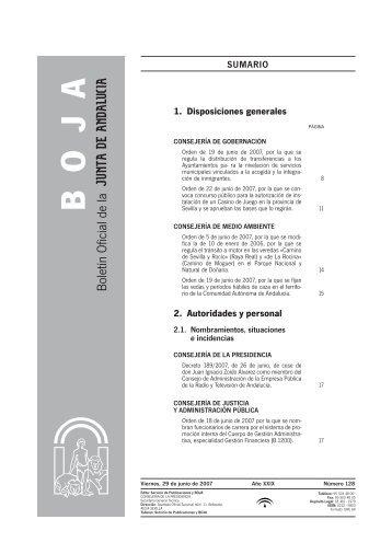 Descargar boletín nº 128 completo - Junta de Andalucía