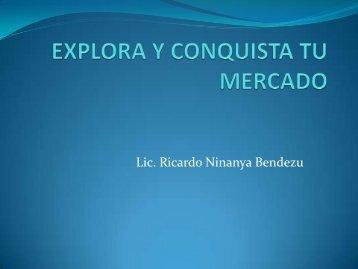 EXPLORA Y CONQUISTA TU MERCADO - Cofide