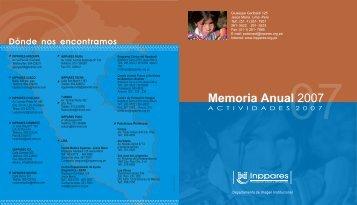Memoria Anual 2007 - Inppares