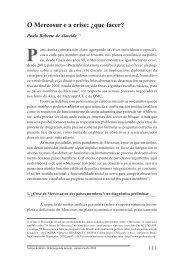O Mercosur e a crise: ¿que facer? - Igadi