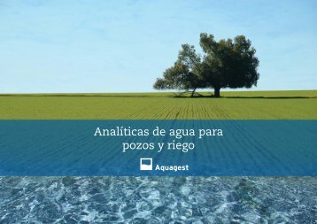 Analíticas de agua para pozos y riego - Aquagest