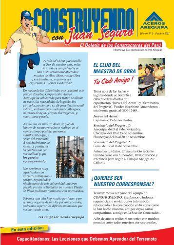 descarga aquí tu boletín edición n°2 - Corporación Aceros Arequipa