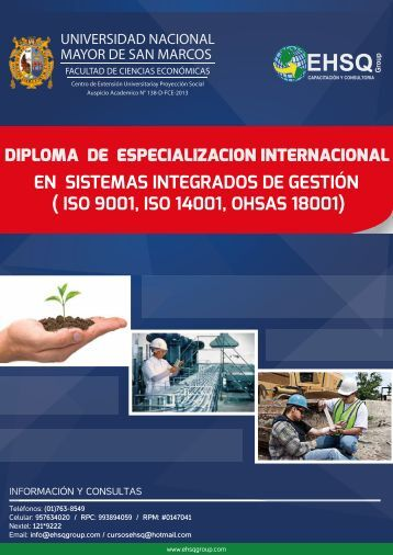 DIPLOMA DE ESPECIALIZACION INTERNACIONAL ... - EHSQ Group