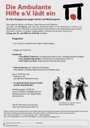 Die Ambulante Hilfe e.V. lädt ein - Ambulante Hilfe Stuttgart