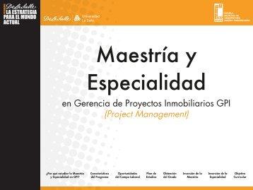 en Gerencia de Proyectos Inmobiliarios GPI (Project ... - EMADyC.org