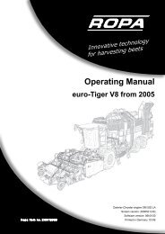 Operating Manual - ROPA Fahrzeug