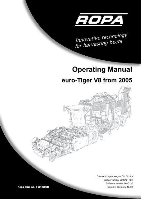 Operating Manual - ROPA Fahrzeug
