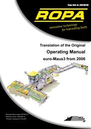 Operation Manual euro ... - ROPA Fahrzeug