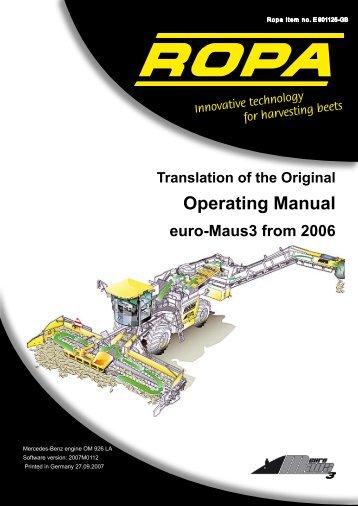 Operation Manual euro ... - ROPA Fahrzeug
