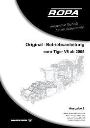 Original - Betriebsanleitung euro-Tiger V8 ab 2005 - ROPA Fahrzeug