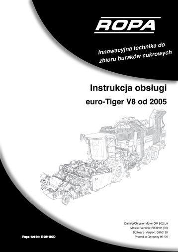 Instrukcja obsługi euro-Tiger V8 od 2005 - ROPA Fahrzeug