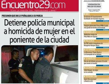 Detiene policía municipal a homicida de mujer en el ... - Encuentro 29