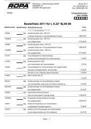 Bestellliste 2011 für L 8.22* Bj.96-98 - ROPA Fahrzeug