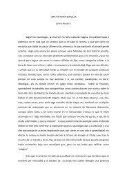 UNA HISTORIA SENCILLA Elvira Navarro Según los neurólogos, la ...