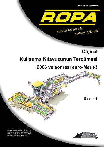 Kullanma Kılavuzunun Tercümesi - ROPA Fahrzeug