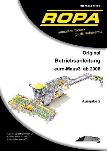 Bedienungsanleitung euro-Maus 3 - Ausgabe 2 ... - ROPA Fahrzeug