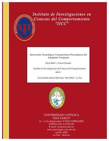 Descargar PDF - IICC - Universidad Católica Boliviana