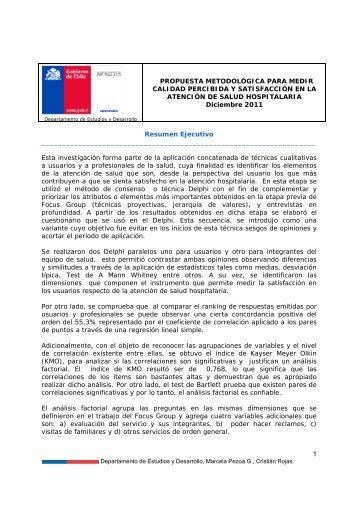 Propuesta metodológica para medir calidad percibida y satisfacción