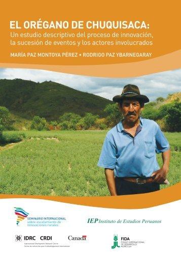 4. El orégano de Chuquisaca - Plataforma Diversidad Biocultural y ...