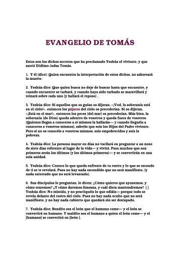 EVANGELIO DE TOMÁS - Ptr. Arturo Quintero