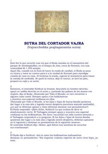 SUTRA DEL CORTADOR VAJRA - Escuela de Meditación