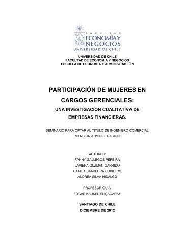 participación de mujeres en cargos gerenciales - Tesis Electrónicas ...