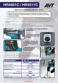 Martillos combinados HR4501C y HR4511C - Makita - Page 2