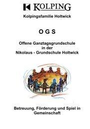 Flyer OGS Holtwick - in der Gemeinde Rosendahl