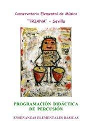 PROGRAMACIÓN DIDÁCTICA DE PERCUSIÓN - Junta de Andalucía