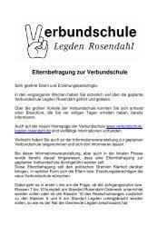 Eltern-Fragebogen und Anschreiben - in der Gemeinde Rosendahl