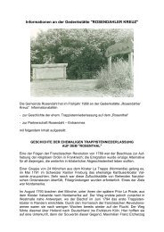 ROSENDAHLER KREUZ - in der Gemeinde Rosendahl