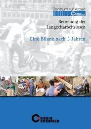Eine Bilanz nach 3 Jahren kommunaler Trägerschaft - Kreis Coesfeld