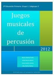 Juegos musicales de percusión corporal - MagisterioCreacionPrimaria