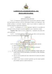 CAMPEONATO AMADOR REGIONAL 2013 REGULAMENTO GERAL