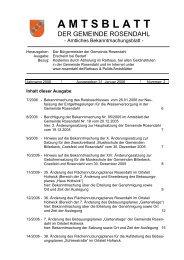 Amtsblatt Nr. 2 vom 31.01.2006 - in der Gemeinde Rosendahl