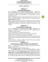 Regulamento do Campeonato Amador 2013 - Prefeitura Municipal ...