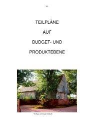Teilpläne Produkte 1-33 - in der Gemeinde Rosendahl